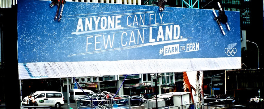 Winter Olympics 'Anyone can fly. Few can land.'
