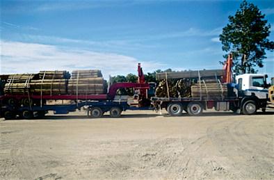 Heavy trailer transport