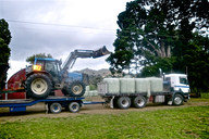 Cartage of tractor and baleage