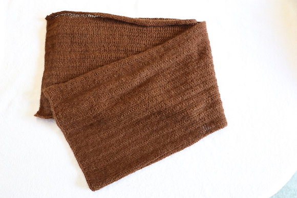 Scarf in Rich Tones of Brown