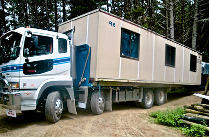 Transportable building delivery