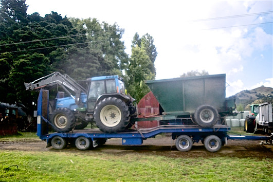 Tractor and trailer transport