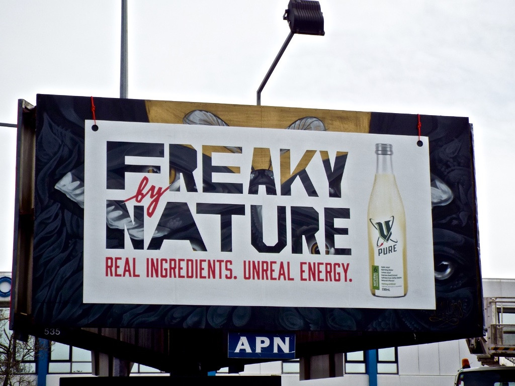 V Frucor - 'Freaky by Nature. V Pure.