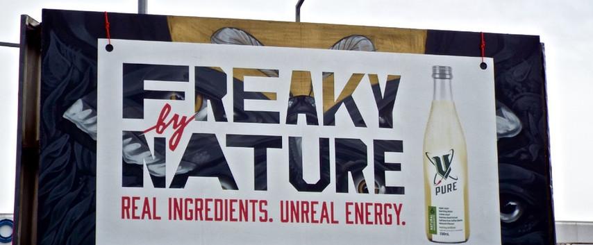 V Frucor - 'Freaky by Nature. V Pure.