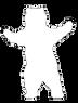 Bear hug sihouette