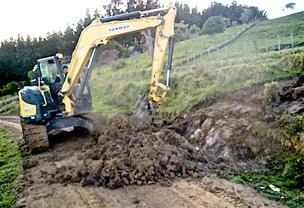 Digger earthworks