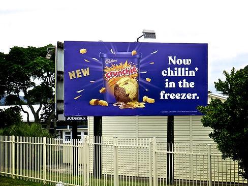 Crunchie Ice Cream Billboard