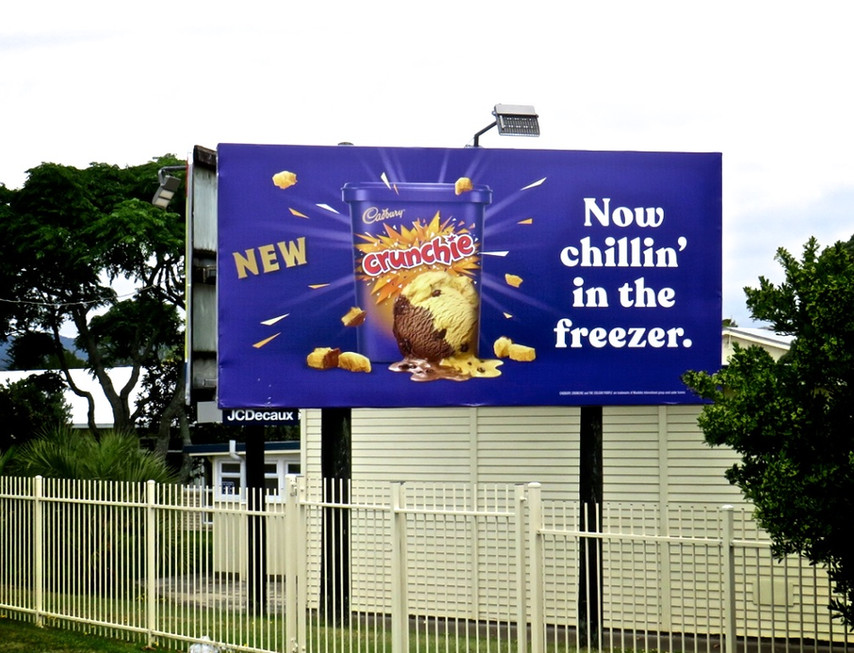 Crunchie Ice Cream - 'Now chillin in the freezer'