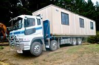 Portacom on trailer