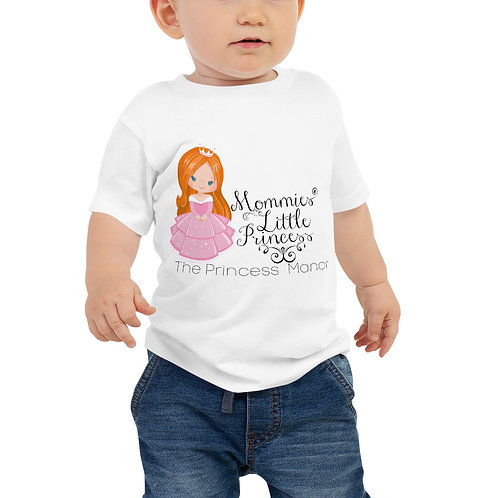 Mommies Little Princess Red Hair Baby Jersey Short Sleeve Tee