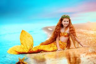 Redhead girl beautiful Siren Mermaid .jp