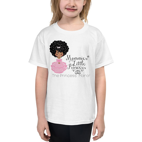 Mommies Little Princess Black Hair Youth Short Sleeve T-Shirt