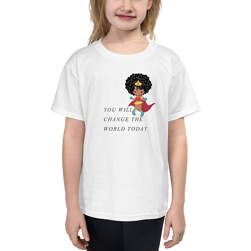 Youth Girl's Superhero Short Sleeve T-Shirt