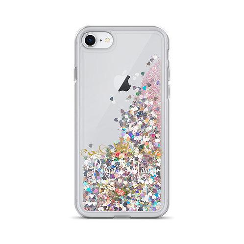 Princess Manor Logo Liquid Glitter Phone Case