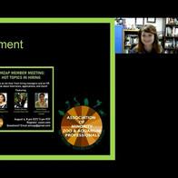 Carly Hornberger presents a virtual presentation