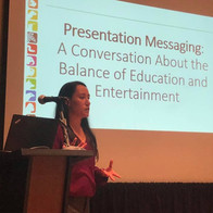 Hilary Colton presents her workshop about conservation messaging