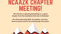 NCAAZK Chapter Meeting and A Special Guest!