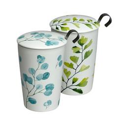 Mug porcelaine double paroi avec filtre inox - 21,90€