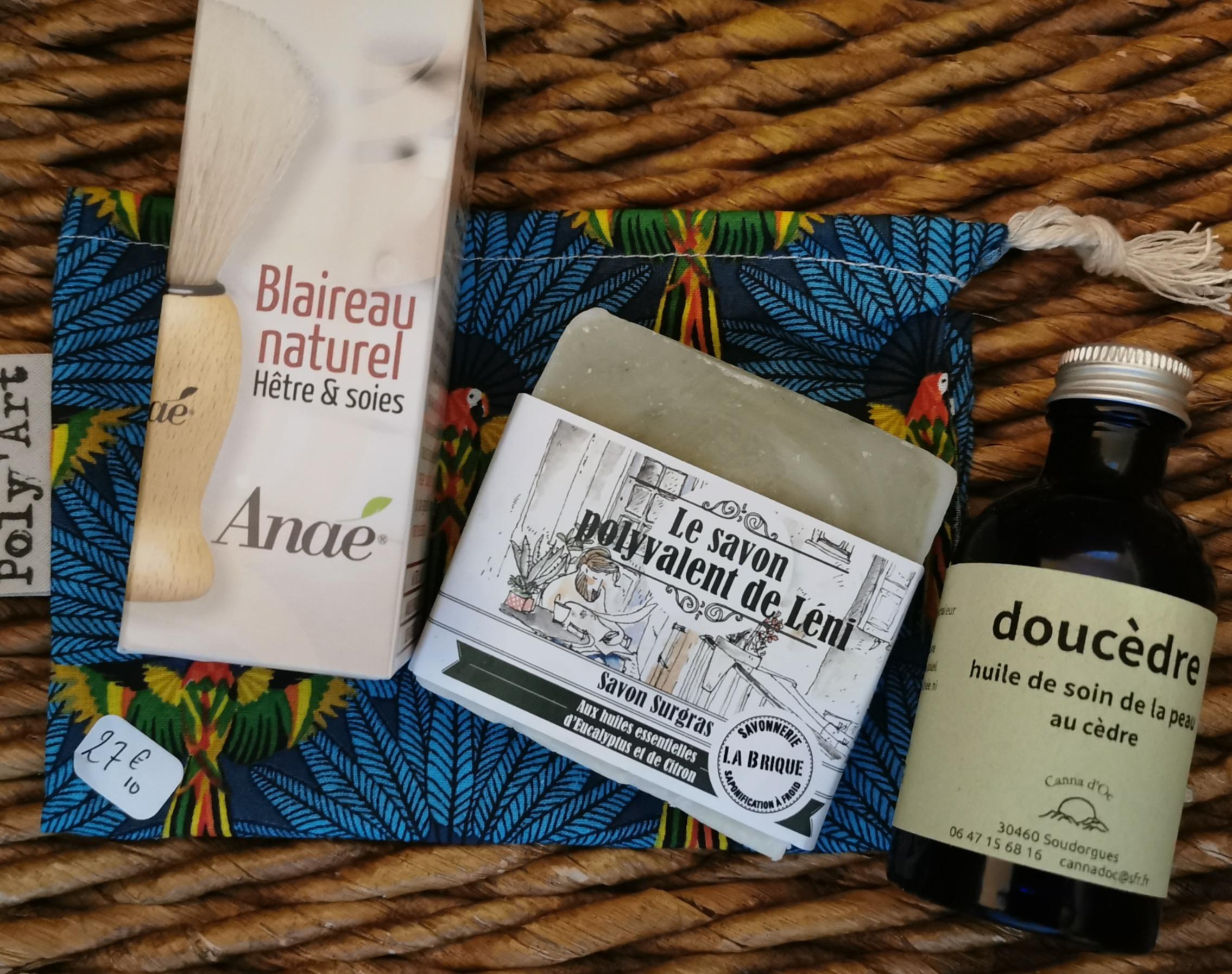 PAPA TOUT DOUX - savon surgras, huile de chanvre, blaireau naturel, sac à vrac - 27,10€
