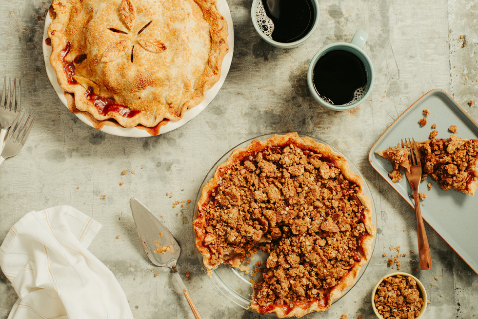Cinnamon Apple Pie - Crumble Topping-076