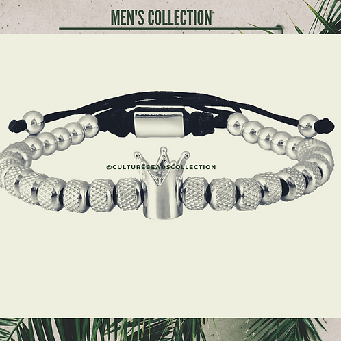 Silver Crown Bracelet  Stainless Steel