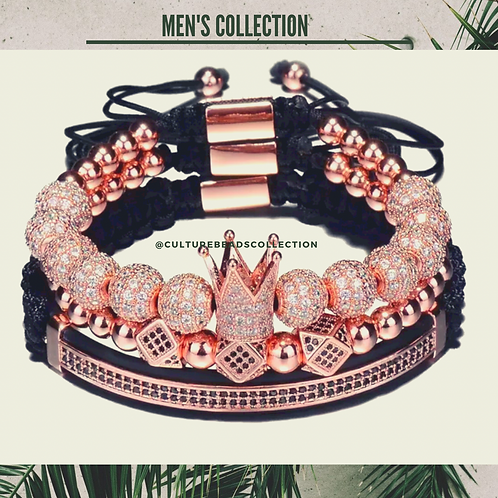 I am Royal King Rose Gold Men's Bracelet