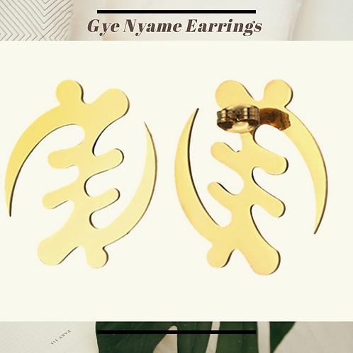 Gye Nyame  Stainless Steel Earrings