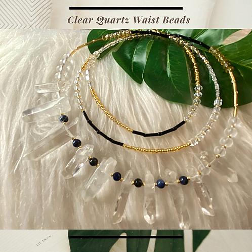 Clear Quartz Goddess Waist Beads