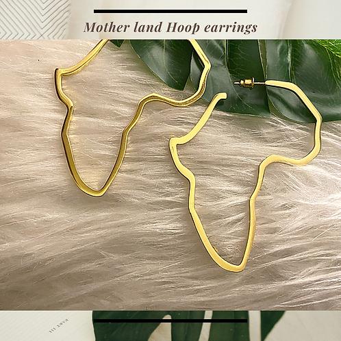 Mother Land Hoop Culture Earrings