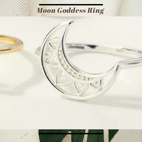 Goddess of the Moon Stainless Steel Ring