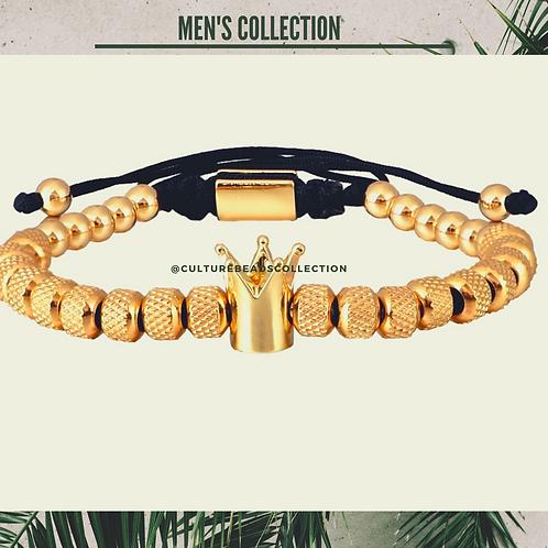 Gold Crown Bracelet  Stainless Steel