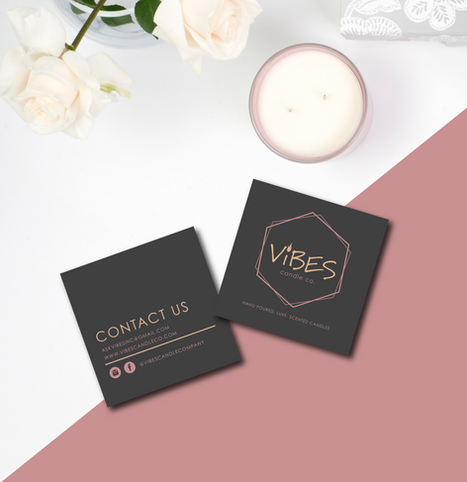 Vibes Candle Co. Biz Cards