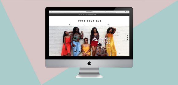 Pure Boutique Site Design