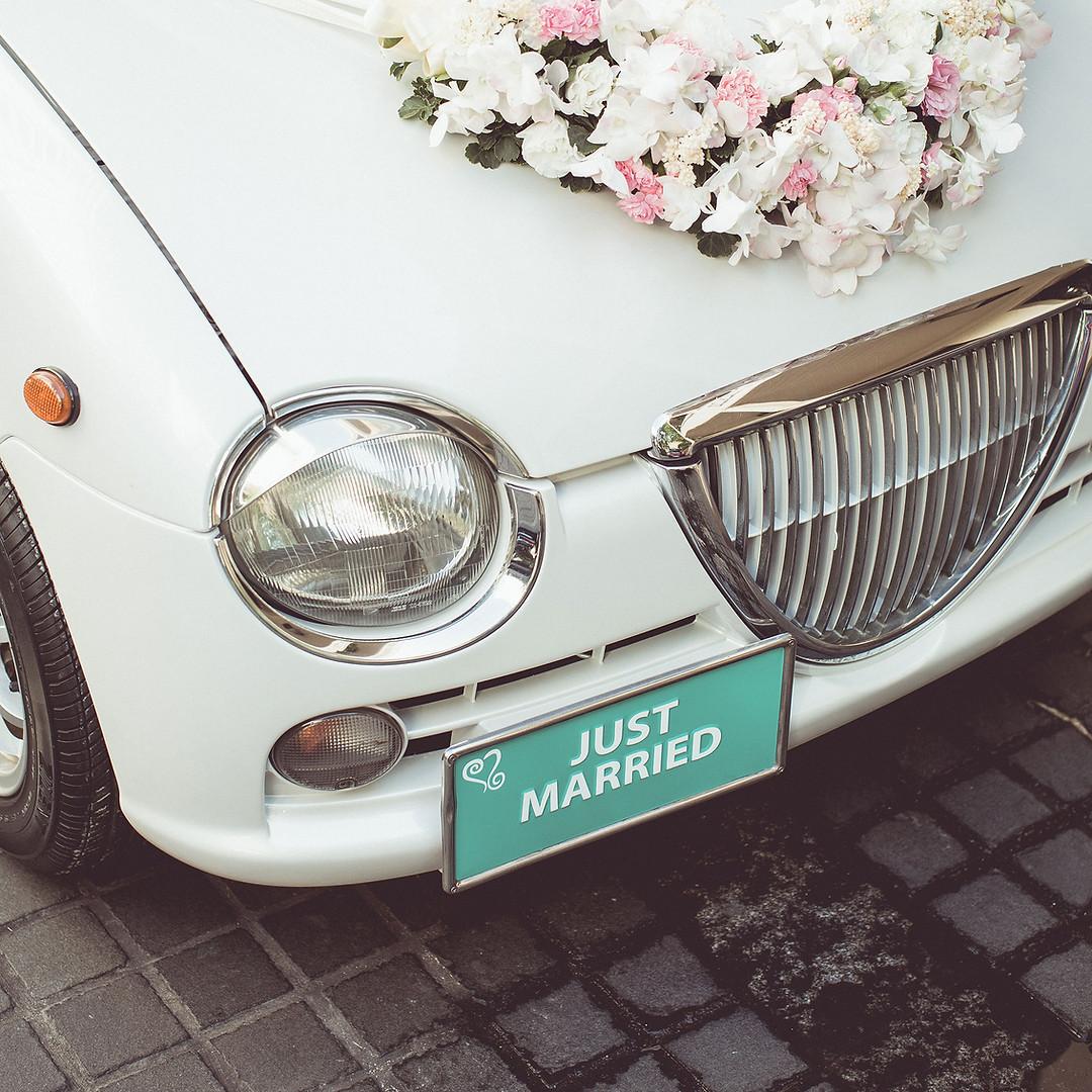 Wedding Detail Photo of car