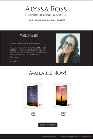 Author Website Mockup