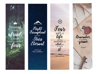 Typographic Bookmarks