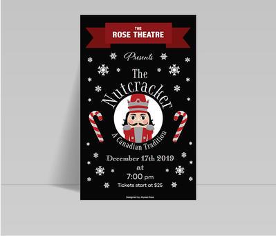 The Nutcracker Typographic Poster