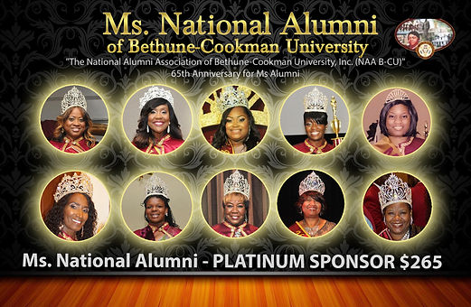 Ms. National Alumni  PLATINUM Sponsor $2