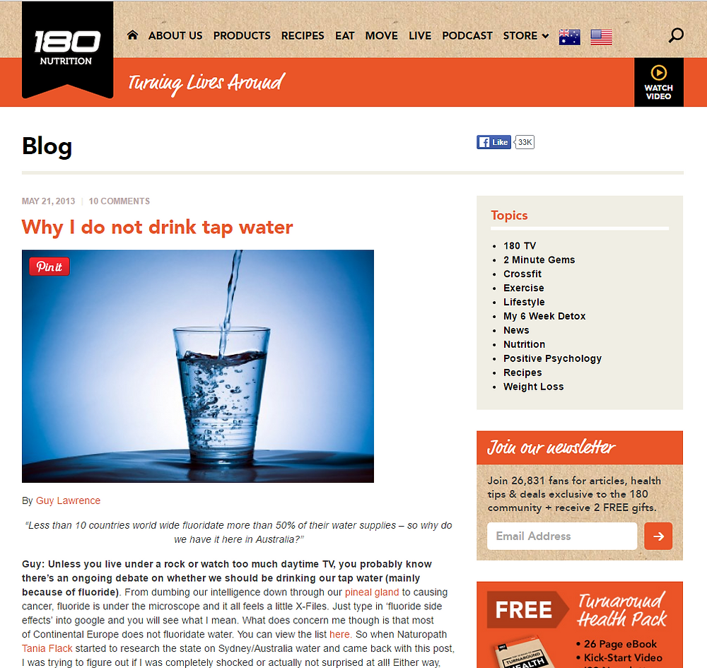 Tap Water Story