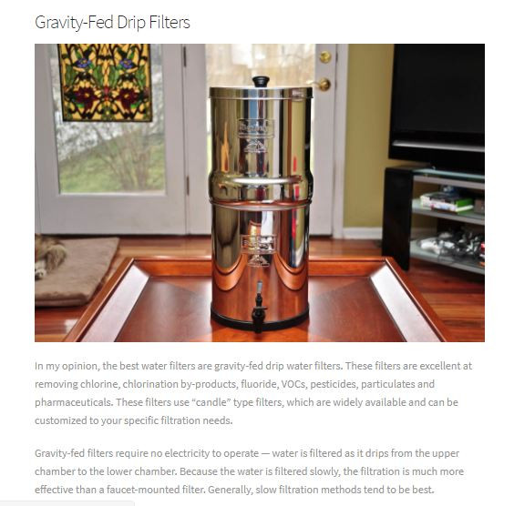 Gravity-Fed Drip Filters Big Berkey