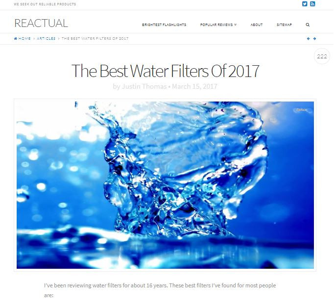 Best Water Filters 2017 By Justin Thomas