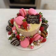 "Beautiful 6"" cake loaded garnishes"