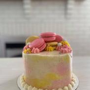 Pastel coloured macarons