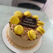 Garnished with french macarons (additional cost)