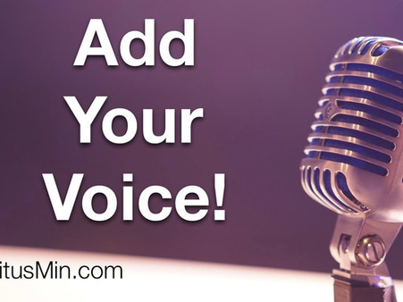Add Your Voice to Our Podcast!
