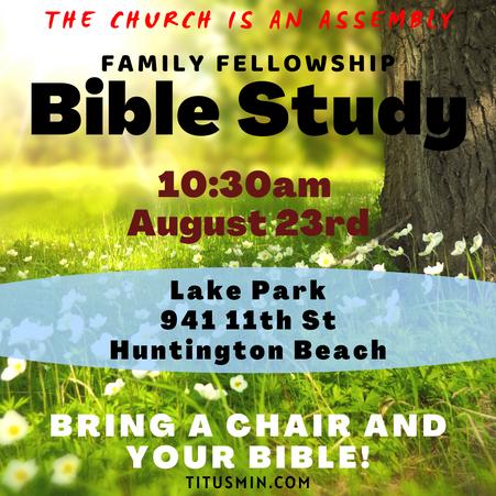 No Bible Study This Sunday!