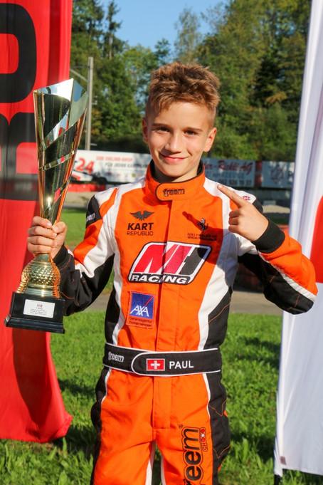 Kartfahren - Paul Schön Meister in der Rotax MAX Challenge Schweiz