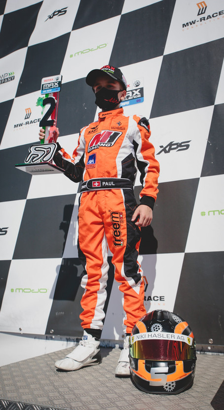 Kartfahren - 2. Platz für Paul Schön an der Rotax Max Challenge Euro Trophy
