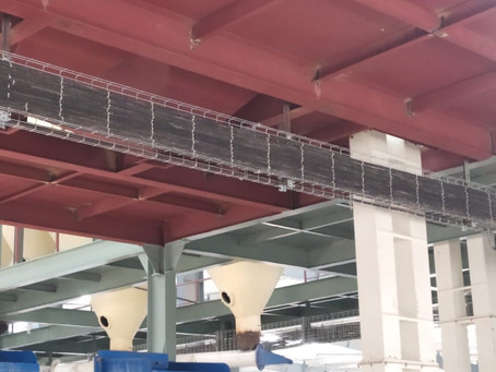 Wiremesh Cable trays in Food Plant