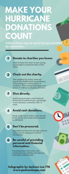 Make Your Hurricane Donations Count: Avoid Being Swindled by Scammers